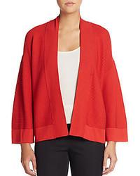 Josie Natori Ribbed Kimono Sleeve Cardigan