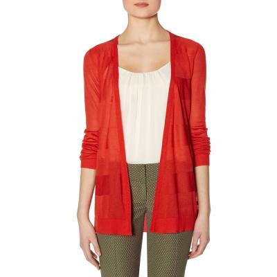 Red Open Front Cardigan Open Front Cardigan Red l