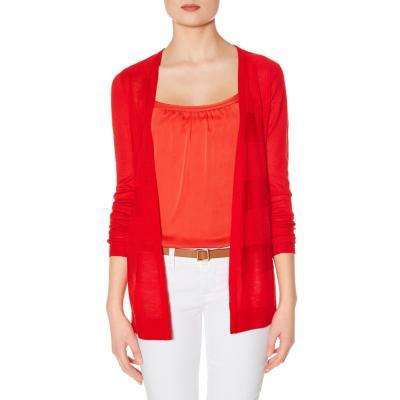 Red Open Front Cardigan Open Front Cardigan Red xs