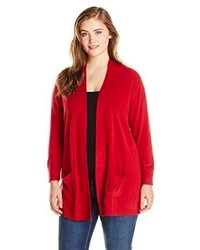 Yours Clothing Women/'s Plus Size Red Twist Knitted Jumper