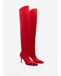 Mango Over The Knee Heel Boots
