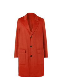 Ami Wool And Cashmere Blend Coat