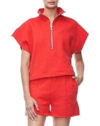 Good American Good Sweats The Chunky Zip Pullover