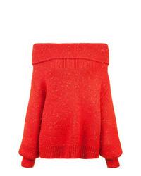 Dvf Diane Von Furstenberg Off Shoulder Chunky Knit Jumper