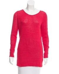 Rachel Zoe Oversize Open Knit Accented Sweater