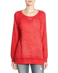 Petite Caslon Burnout Sweatshirt