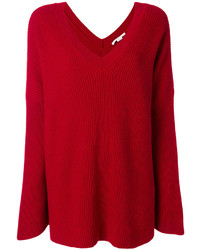 Stella McCartney Ribbed Oversized V Neck Sweater