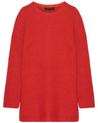 The Row Taby Oversized Chunky Knit Cashmere Sweater Red