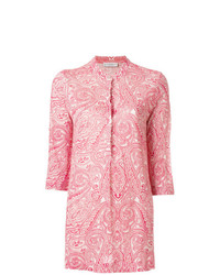 Le Tricot Perugia Paisley Print Fitted Shirt