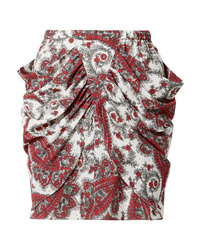Isabel Marant Tilena Draped Printed Mini Skirt
