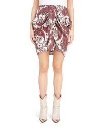 Isabel Marant Tilena Techno Paisley Ruched Skirt