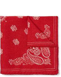 Alex Mill Paisley Print Wool Twill Pocket Square