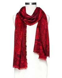 Merona Paisley Scarf Red