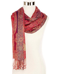 jcpenney Paisley Metallic Thread Scarf