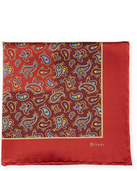Paisley pine silk pocket square medium 4985715