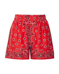 Alexander Wang Printed Silk Shorts