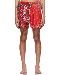 Amiri Red Bandana Swim Shorts