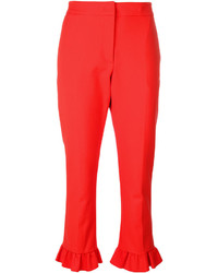 MSGM Frilled Cropped Trousers