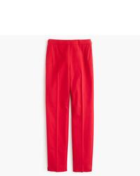 J.Crew Martie Slim Crop Pant In Stretch Cotton With Side Zip