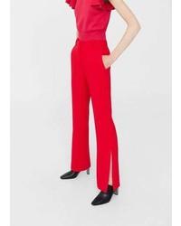 Mango Side Slit Flowy Trousers