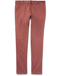 The Elder Statesman Slim Fit Cotton Twill Trousers