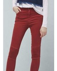 Mango Outlet Zip Cotton Trousers