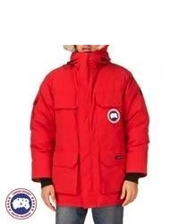 Canada Goose mens outlet fake - River Island Red Faux Fur Trim Alpine Parka Jacket | Where to buy ...