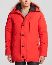 Canada Goose Chateau Parka With Fur Hood Red
