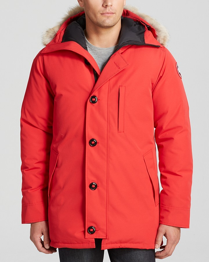 Men's Fashion › Jackets › Parkas › Red Parkas Canada Goose Chateau Parka With Fur Hood Red