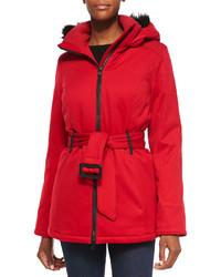 Canada Goose Cortina Fur Hood Parka Red