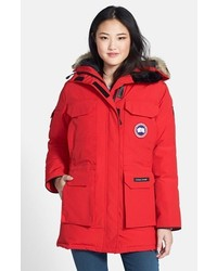 Expedition relaxed fit down parka with genuine coyote fur medium 118415