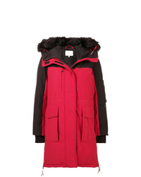 Tommy Hilfiger Hooded Panelled Parka Coat