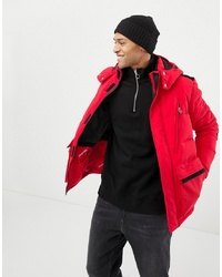 Jack & Jones Originals Puffer Parka With Mixed S