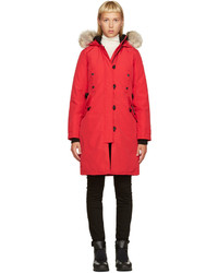 Red down kesington parka medium 740534