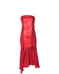 Romeo Gigli Vintage Strapless Asymmetric Dress