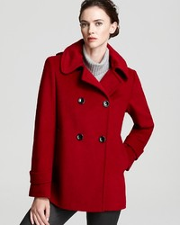Calvin Klein Double Breasted Pea Coat With Hood