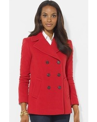 Double breasted wool blend peacoat medium 368476