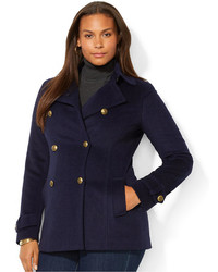 cfc43579fa6be ... Lauren Ralph Lauren Plus Size Double Breasted Pea Coat ...