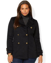 a5fd6d41a10d4 ... Lauren Ralph Lauren Plus Size Double Breasted Pea Coat