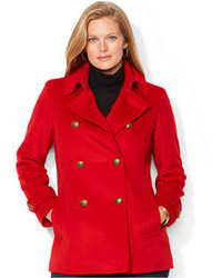 Lauren Ralph Lauren Plus Size Double Breasted Pea Coat