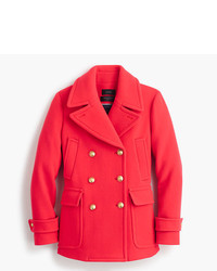 J.Crew Tall Stadium Cloth Majesty Peacoat