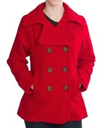 Woolrich Vista Pea Coat Wool Double Breasted