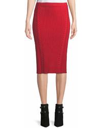 Rag & Bone Brandy Rib Knit Midi Pencil Skirt