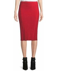 Brandy rib knit midi pencil skirt medium 6988824