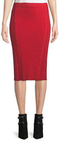 Rag & Bone Brandy Rib Knit Midi Pencil Skirt