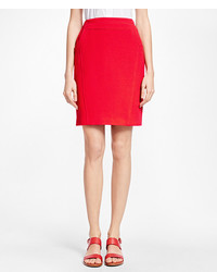 Brooks Brothers Wool Crepe Pencil Skirt