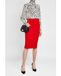 Victoria Beckham Crepe Pencil Skirt