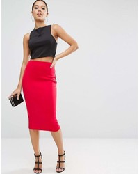 Asos High Waisted Scuba Pencil Skirt