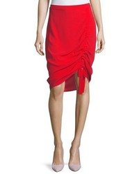 Ivy crepe ruched skirt medium 5053778