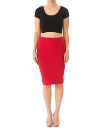 Karen Michelle Bright Fitted Pencil Skirt